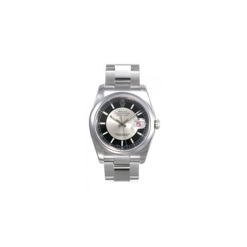 Rolex Datejust Rhodium Center Black Roman Index Di