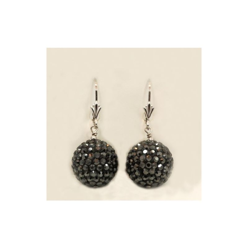 Designer Pave Disco Ball Dangle Sterling 73025 1