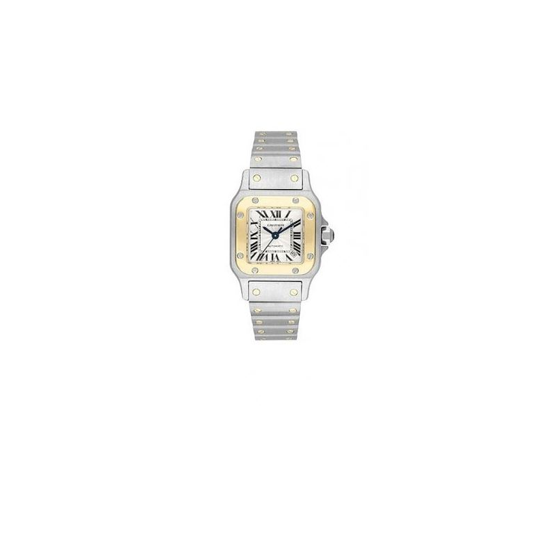 Cartier Santos Two-Tone 18kt Yellow Gold and Steel