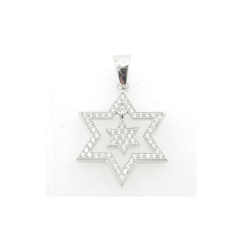 Ladies .925 Italian Sterling Silver star within st
