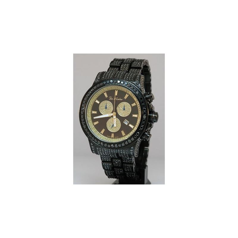 Joe Rodeo Watches Mens Black Diamond Watch Pilot 2