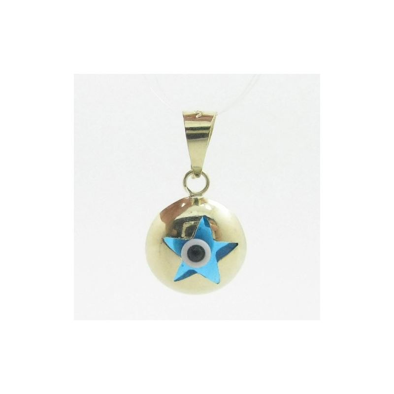 Womens bp8 kabbalah evil eye 14k solid yellow gold