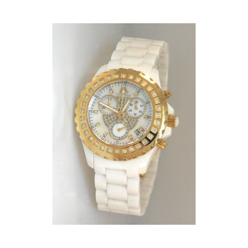 Techno Master Ceramic Round 0.90 ct Diamond Unisex
