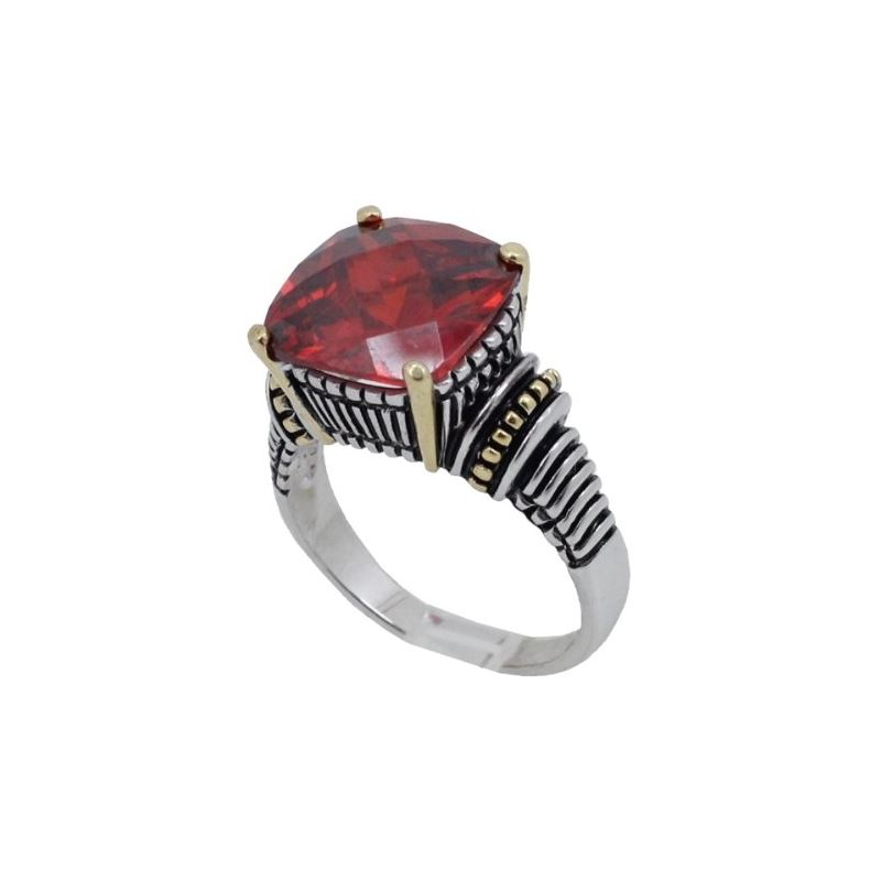 Ladies .925 Italian Sterling Silver Ruby 74181 1