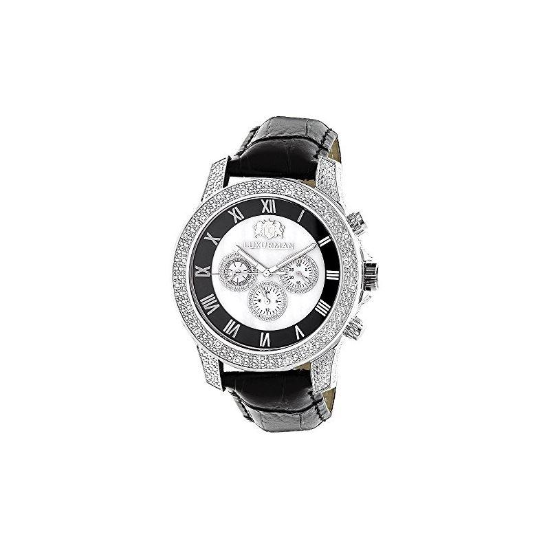Watches Mens Diamond Watch 0.50Ct Freeze