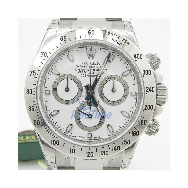 Rolex Daytona White Index Dial Oyster Bracelet Men