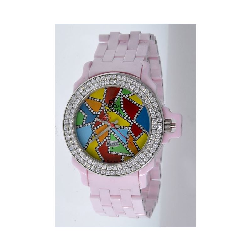 Jacob Co Ceramic Womens Diamond Watch JCS5