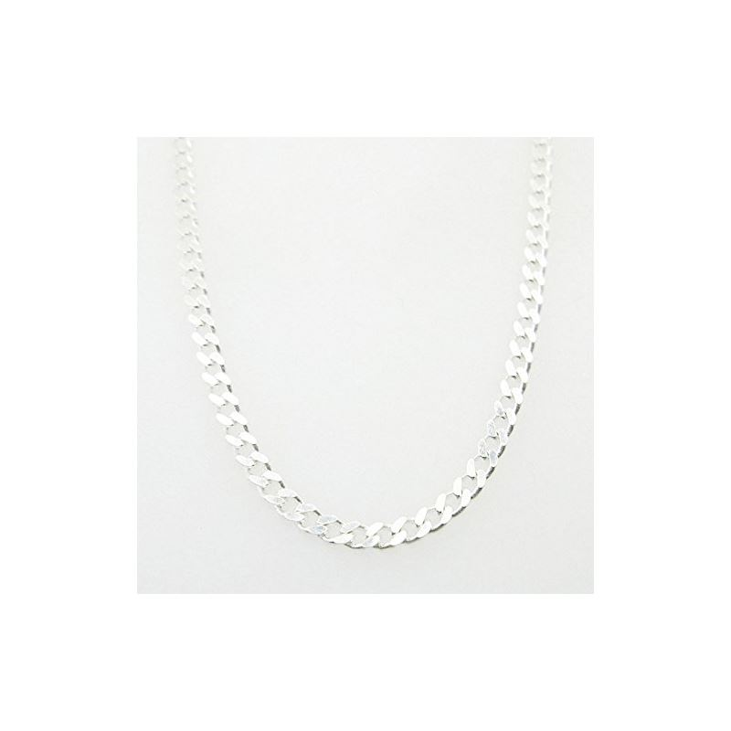 Silver Curb link chain Necklace BDC72 79546 1