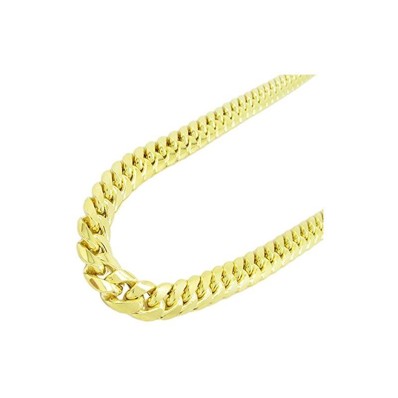 Mens 10k Yellow gold Yellow gold miami cuban hollo