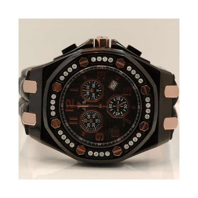 Aqua Master Royal Oak Mens Diamond Watch 1.50ctw W