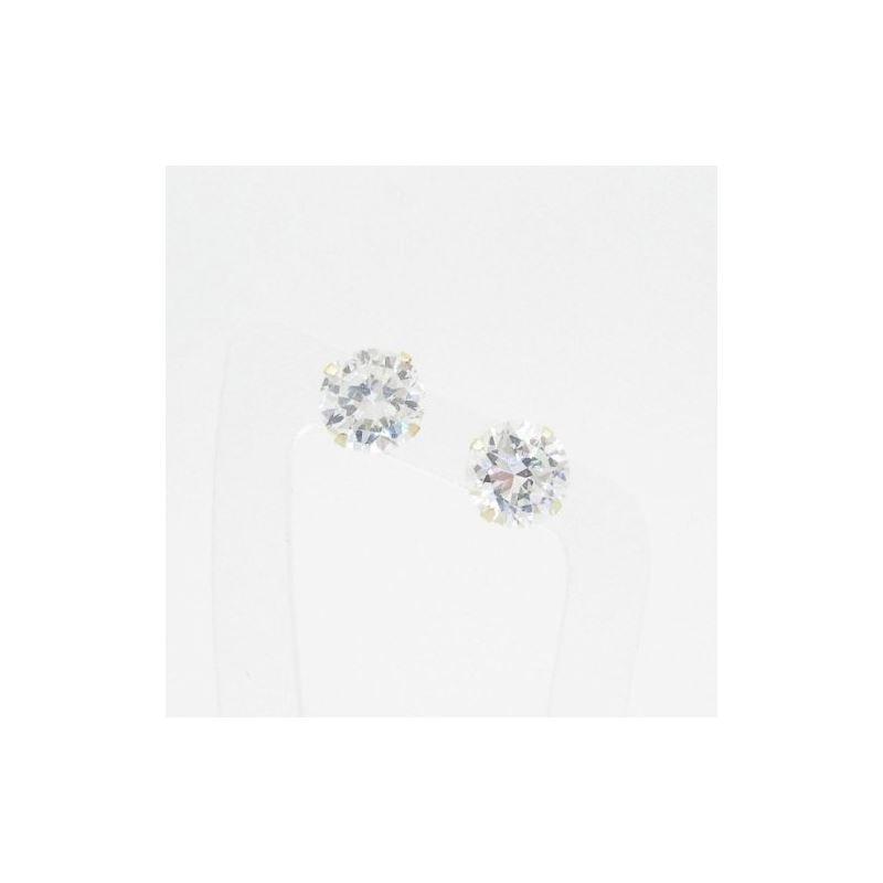 Unisex 14K solid gold earrings fancy stu 81785 1