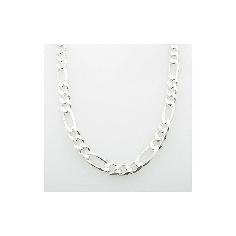 Silver Figaro link chain Necklace BDC97 79744 1