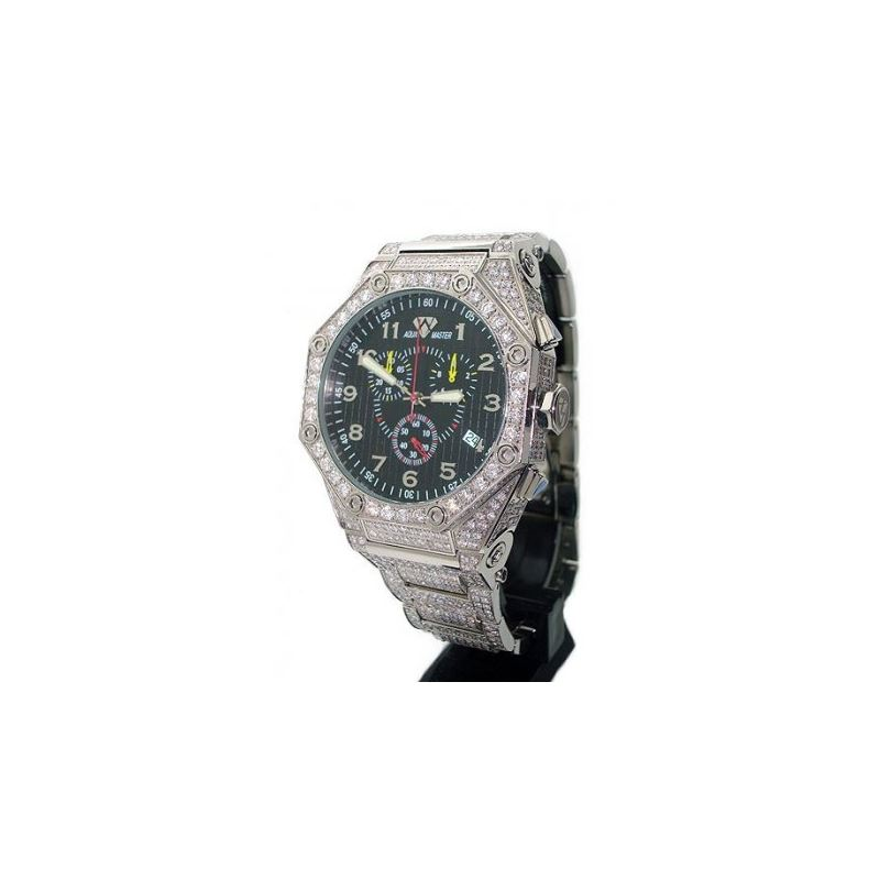 Aqua Masters Full Pave Diamond Watch 27850 1