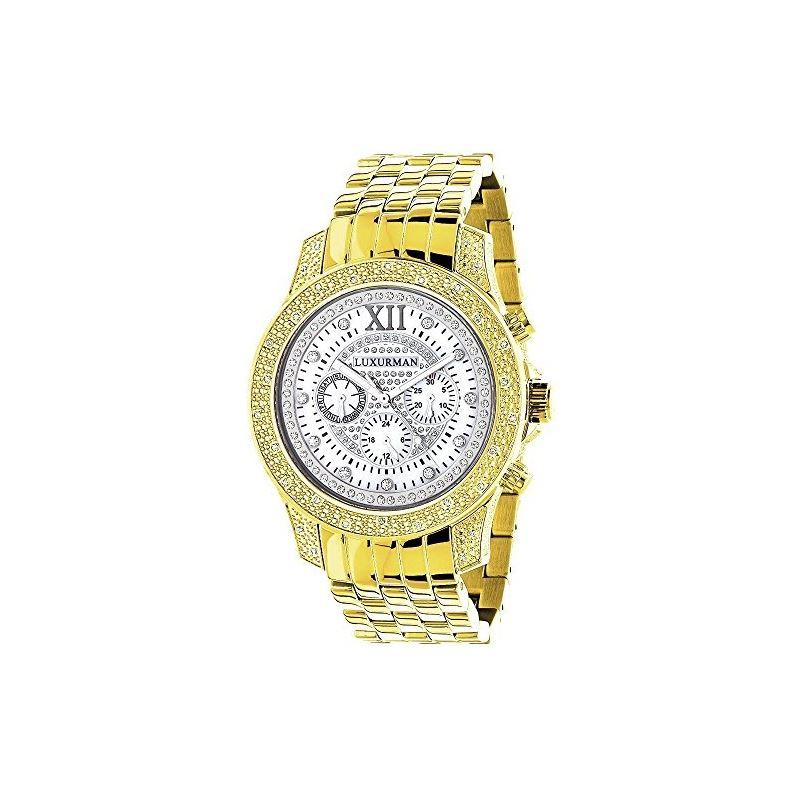Mens Diamond Watches: Raptor Yellow Gold Plated Wa