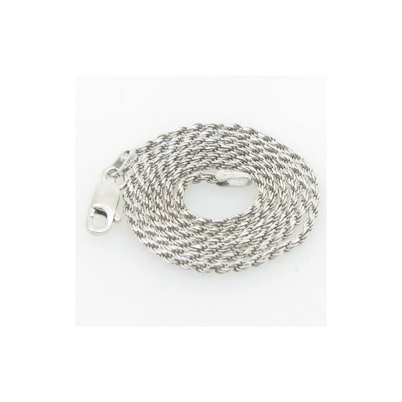 Ladies .925 Italian Sterling Silver Rope Link Chai