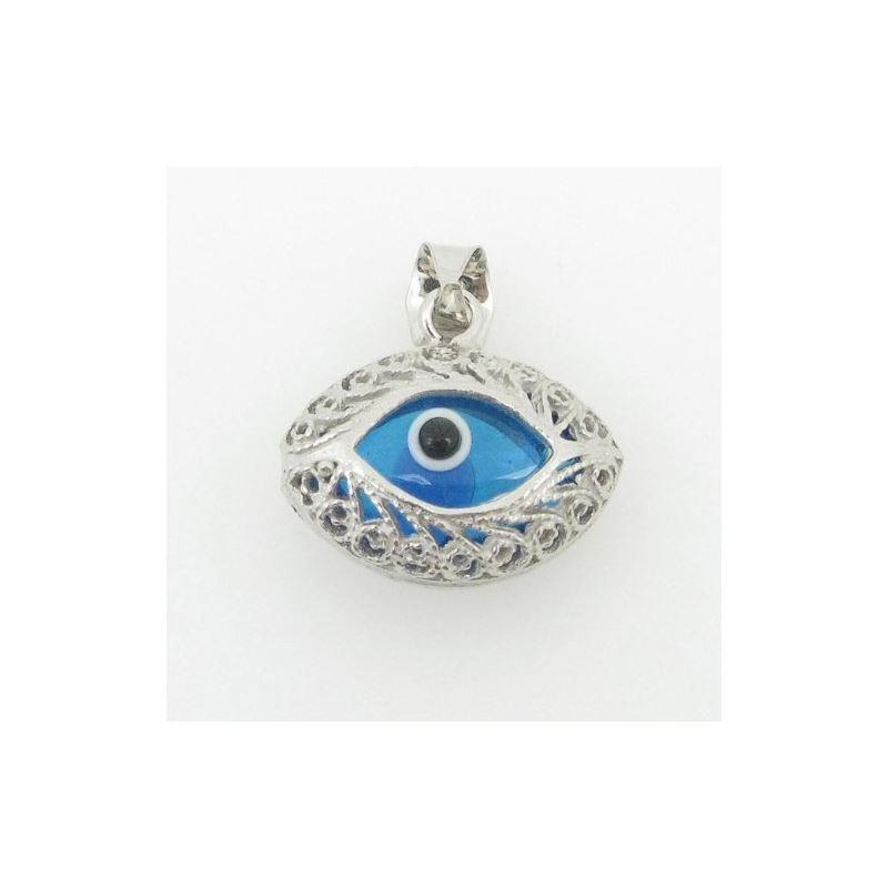 womens bp127 kabbalah evil eye .925 Sterling Silve