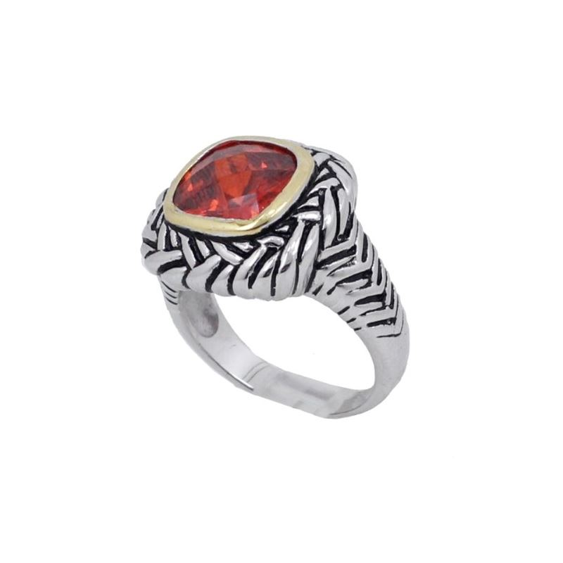 Ladies .925 Italian Sterling Silver Ruby 74157 1