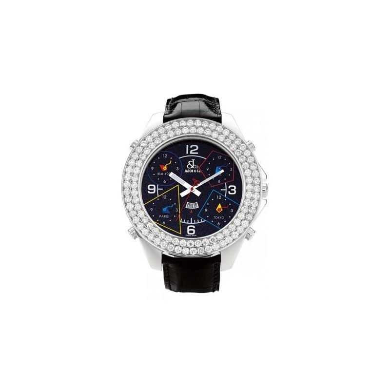 Jacob Watches: Jacob  Co. Jumbo Size Diamond Watch