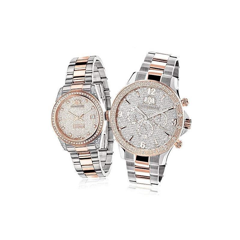 Matching His And Hers Watches: 18K White Rose Gold