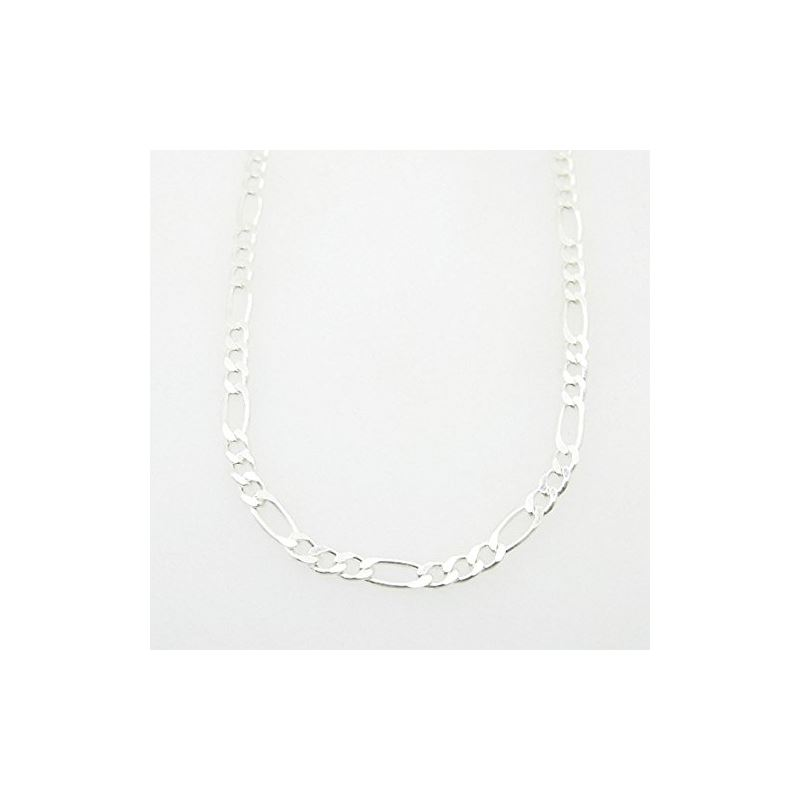 Silver Figaro Link Chain Necklace Bdc70