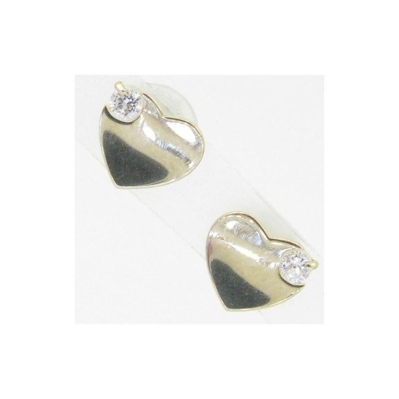 14K Gold Earrings heart star flower dolp 64148 1