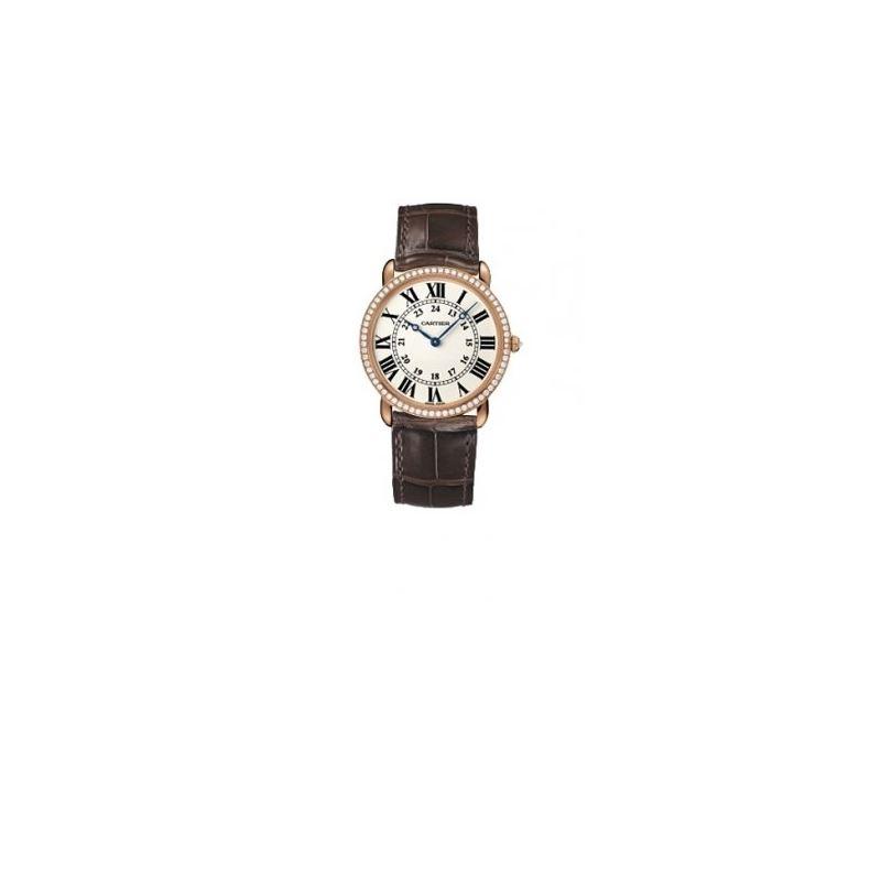 Cartier Ronde Louis Mens Gold Watch WR000651