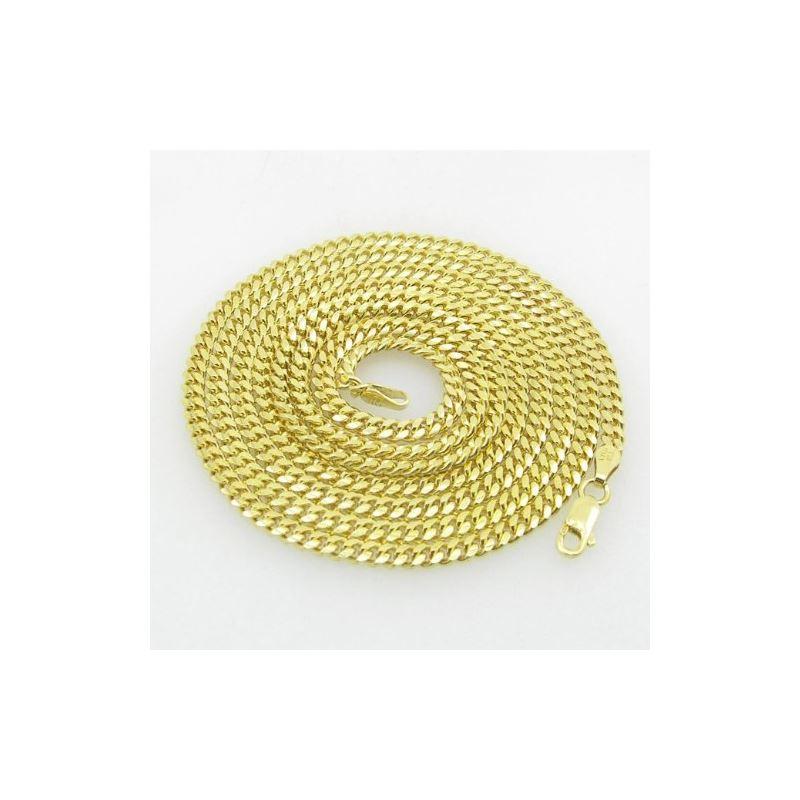 Mens .925 Italian Sterling Silver Cuban Link Chain