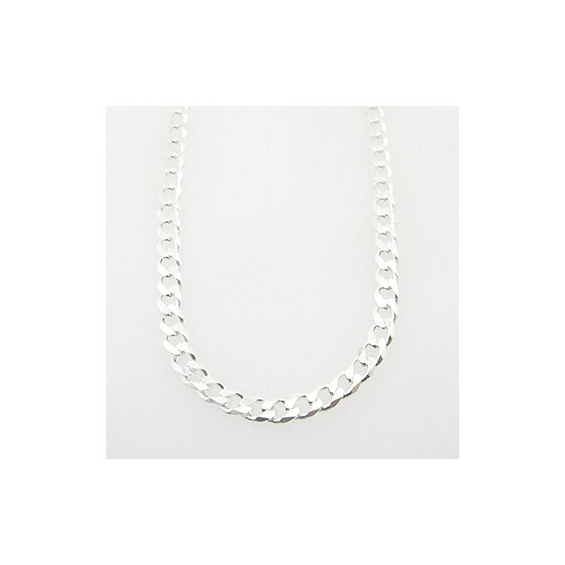 Silver Curb Link Chain Necklace Bdc68