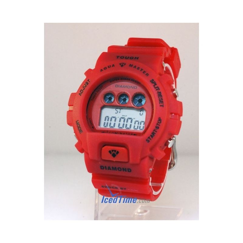 Aqua Master Shock Digital Watch Red