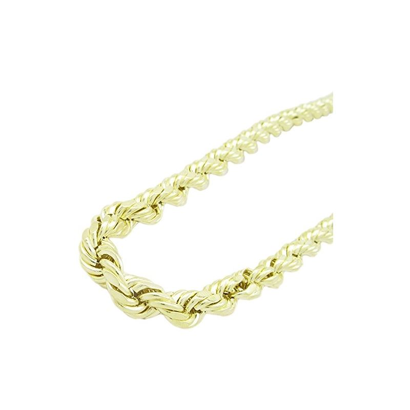 """Mens 10k Yellow Gold HOLLOW rope chain 30"""" long an"""