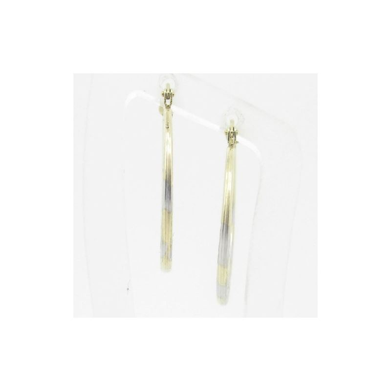 Ladies 10K Gold And .925 Italian Sterling Silver E