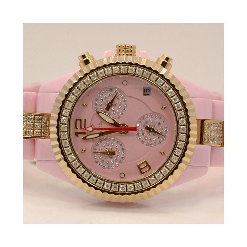 Aqua Master Ladies Ceramic Diamond Watch 3.00ctw W