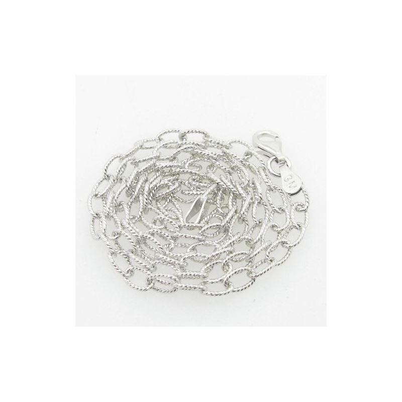 Ladies .925 Italian Sterling Silver Fancy Open Lin