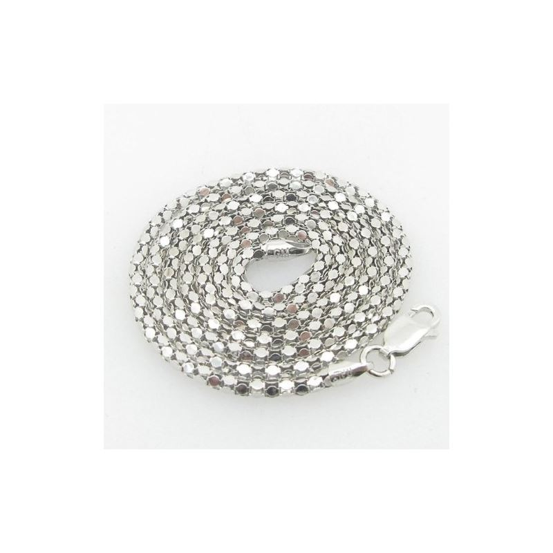 Ladies .925 Italian Sterling Silver Popcorn Link C