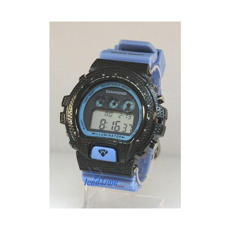 Aqua Master Shock Diamond Mens Black Watch gd4
