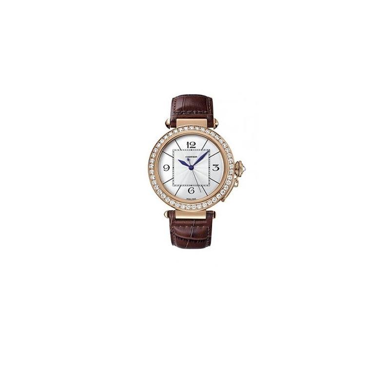 Cartier Pasha Rose Gold Diamond Mens Watch WJ12015