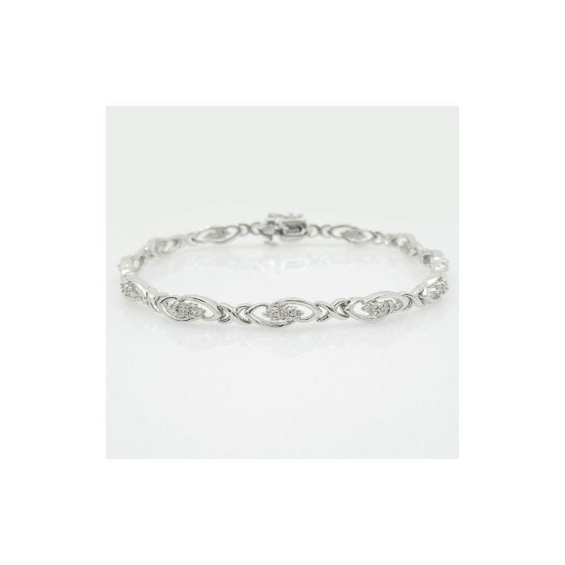 Ladies 0.15ctw Diamond Tennis Bracelet B 74714 1