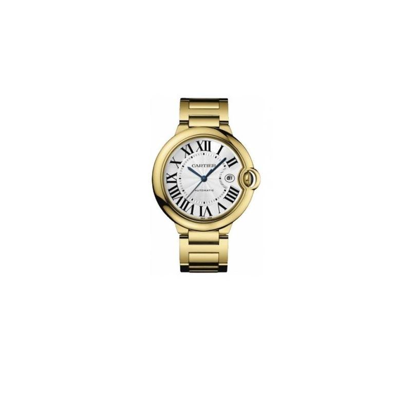 Cartier Ballon Bleu Mens Yellow Gold Watch W69005Z