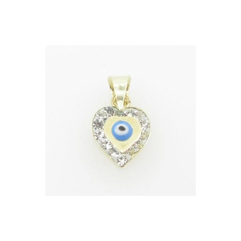 Womens BP115 Kabbalah Evil Eye 14K Solid Yellow Go