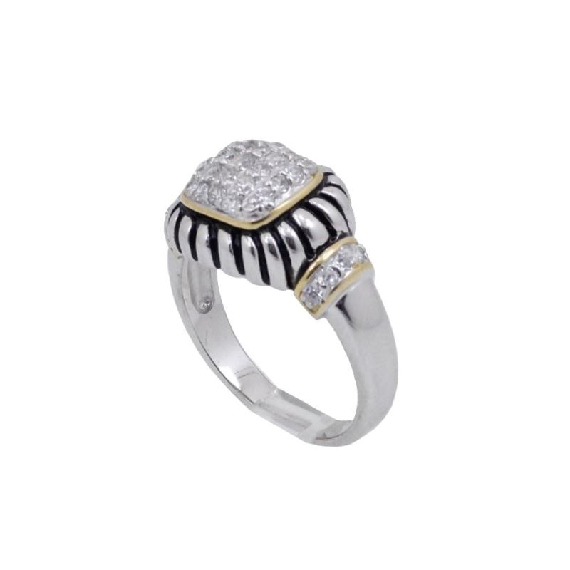 Ladies .925 Italian Sterling Silver white cz synth