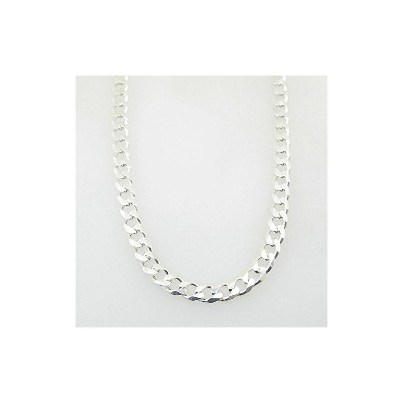 Silver Curb link chain Necklace BDC87