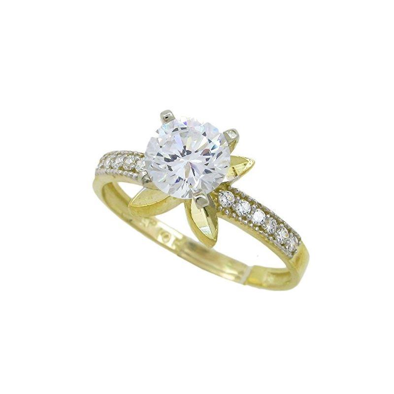 10K Yellow Gold womens wedding band enga 63199 1