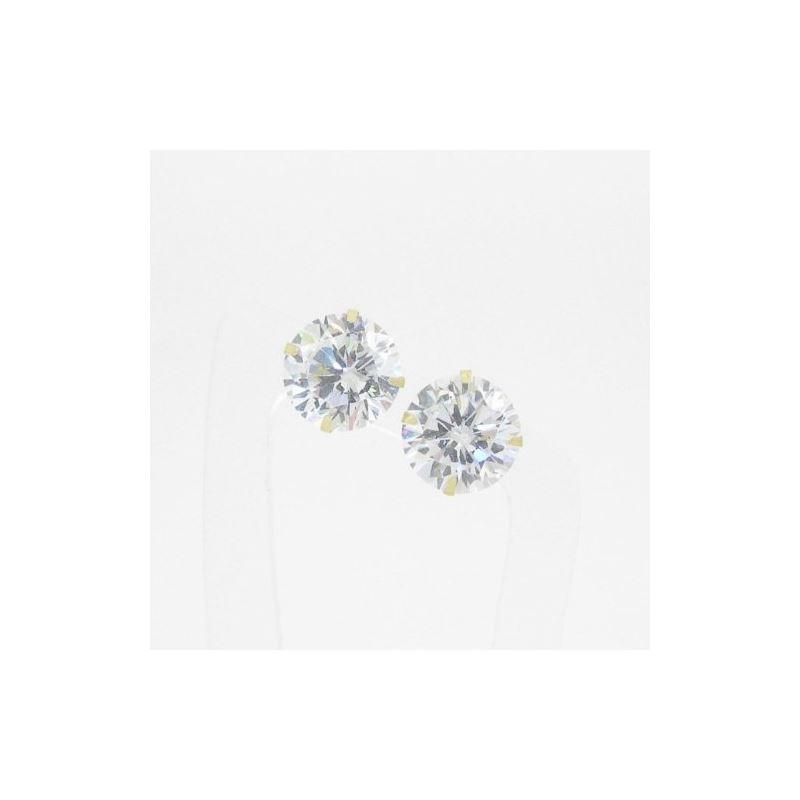 Unisex 14K solid gold earrings fancy stud hoop hug