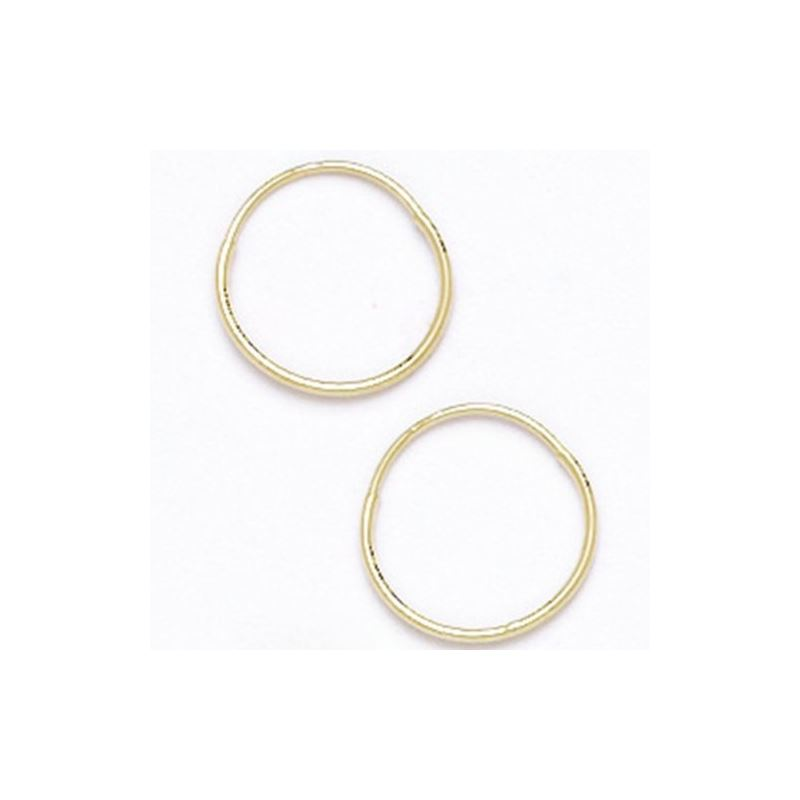 14K Yellow Gold Hoop Earrings 10 12 14 16 18 21