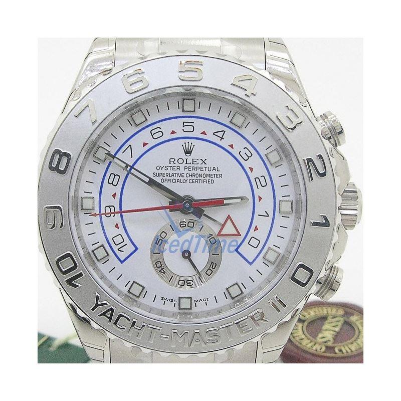Rolex Yachtmaster II White Arabic Dial Oyster Brac