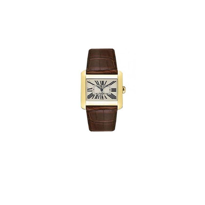 Cartier Tank Divan 18kt Yellow Gold Mens Watch W63