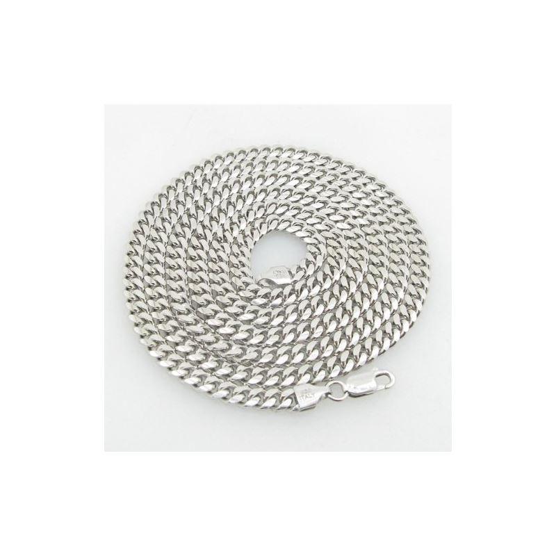 Mens .925 Italian Sterling Silver Cuban  75555 1