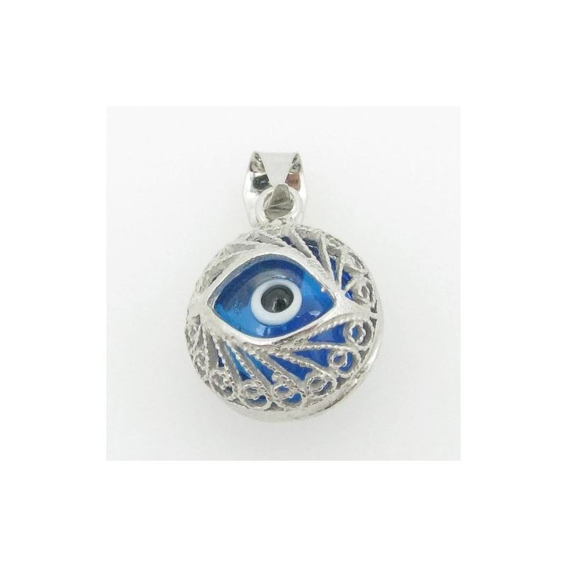 womens bp138 kabbalah evil eye .925 Sterling Silve