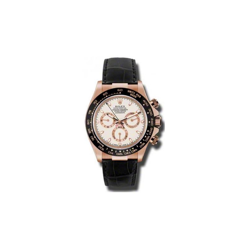 Rolex Watches  Daytona Everose Gold  Leather Strap