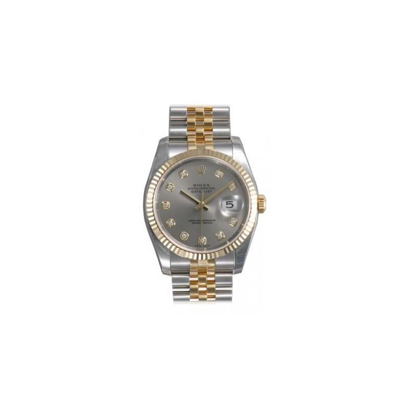 Rolex Datejust Grey Diamond Dial Jubilee Bracelet